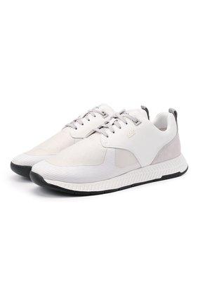 Мужские комбинированные кроссовки BOSS белого цвета, арт. 50446667   Фото 1