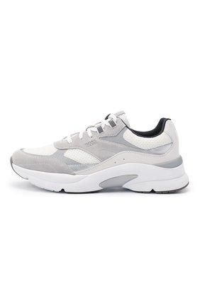 Мужские комбинированные кроссовки BOSS белого цвета, арт. 50446943   Фото 3