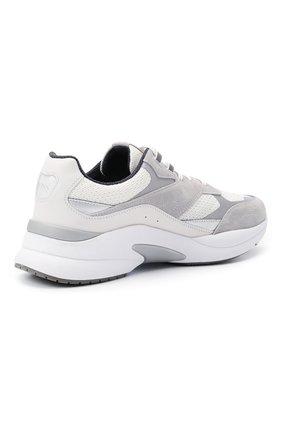 Мужские комбинированные кроссовки BOSS белого цвета, арт. 50446943   Фото 4