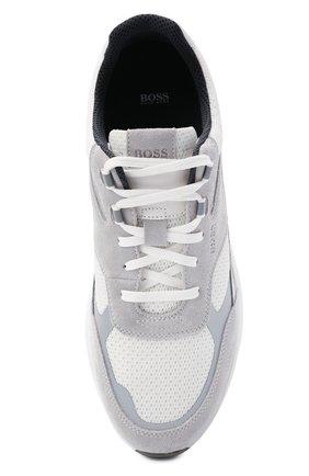 Мужские комбинированные кроссовки BOSS белого цвета, арт. 50446943   Фото 5