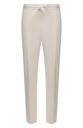 Мужские хлопковые брюки BOSS белого цвета, арт. 50448739   Фото 1