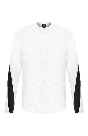 Мужская льняная рубашка THOM KROM черно-белого цвета, арт. M H 115 | Фото 1