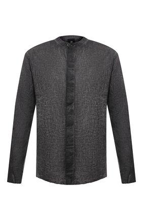 Мужская льняная рубашка THOM KROM темно-серого цвета, арт. M H 115   Фото 1