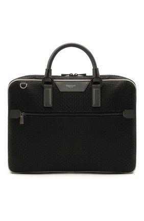 Мужская сумка для ноутбука stepan SERAPIAN черного цвета, арт. SRSTPMLL712537B | Фото 1