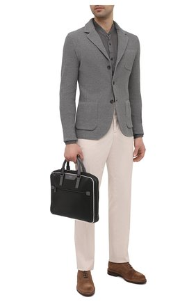 Мужская сумка для ноутбука stepan SERAPIAN черного цвета, арт. SRSTPMLL712537B | Фото 2