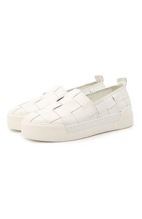 Мужские кожаные слипоны VIC MATIE белого цвета, арт. 1Z5888U.V02X080102 | Фото 1 (Материал внутренний: Натуральная кожа; Стили: Кэжуэл)