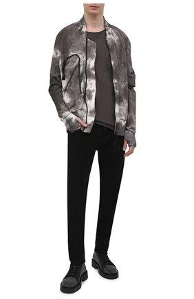 Мужские комбинированные ботинки VIC MATIE серого цвета, арт. 1Z5940U.Y02C8UB001 | Фото 2 (Подошва: Массивная; Материал внешний: Текстиль; Материал внутренний: Текстиль, Натуральная кожа; Мужское Кросс-КТ: Ботинки-обувь)
