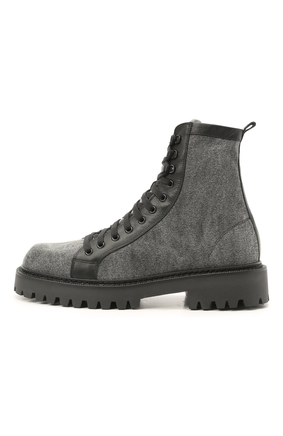 Мужские комбинированные ботинки VIC MATIE серого цвета, арт. 1Z5940U.Y02C8UB001   Фото 3