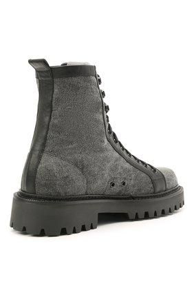 Мужские комбинированные ботинки VIC MATIE серого цвета, арт. 1Z5940U.Y02C8UB001   Фото 4