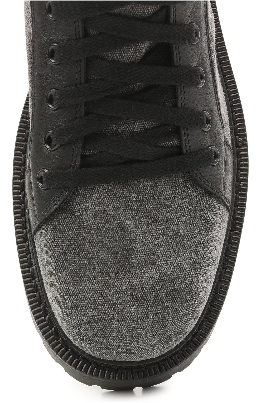 Мужские комбинированные ботинки VIC MATIE серого цвета, арт. 1Z5940U.Y02C8UB001   Фото 5