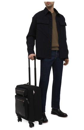 Мужской комбинированный чемодан GIORGIO ARMANI черного цвета, арт. Y2Q207/YI88E   Фото 2