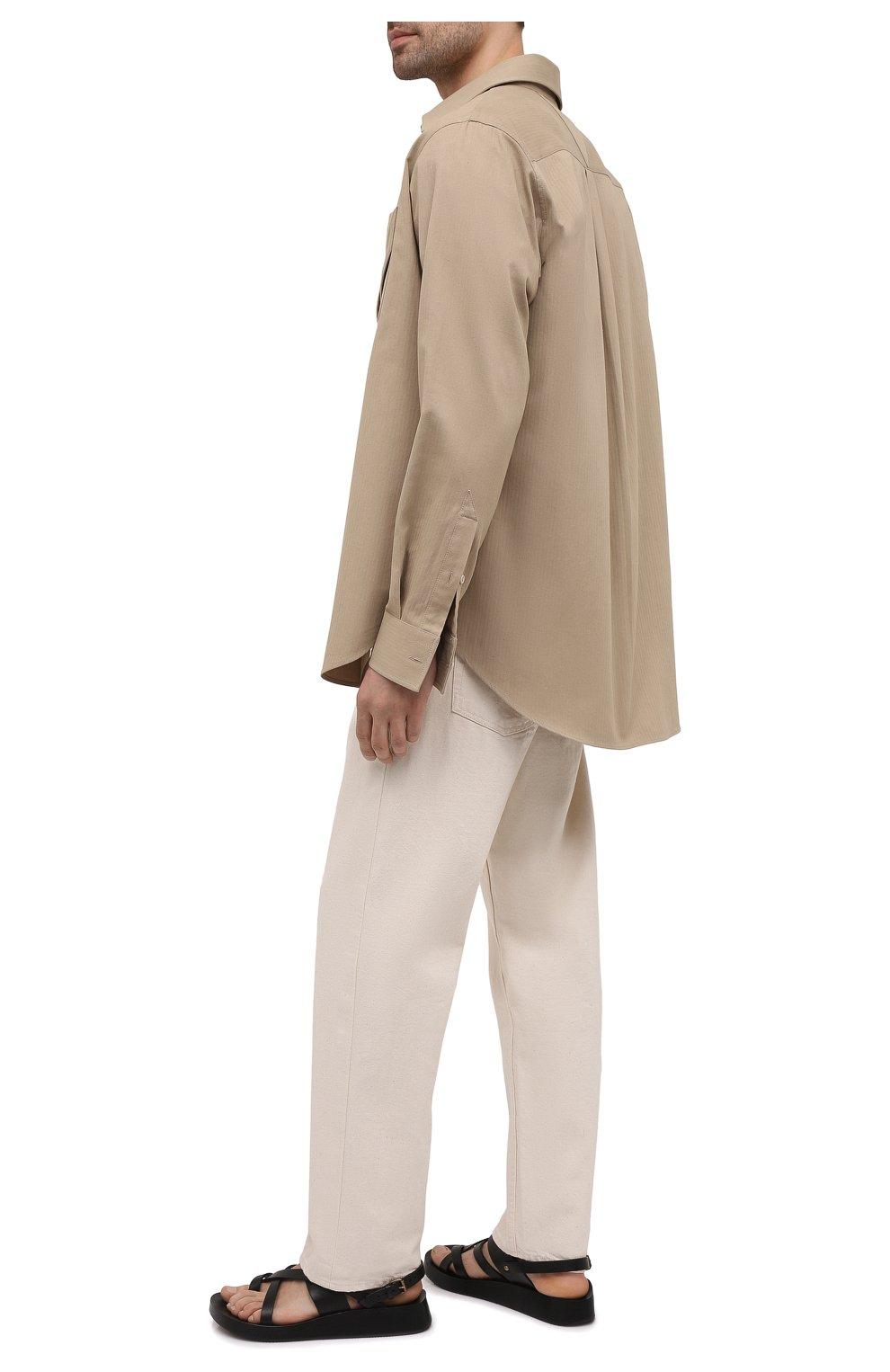 Мужские кожаные сандалии SAINT LAURENT черного цвета, арт. 649005/12K00   Фото 2 (Материал внутренний: Натуральная кожа)