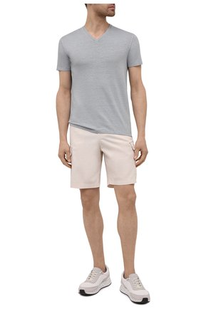 Мужская льняная футболка DANIELE FIESOLI светло-серого цвета, арт. DF 7111   Фото 2