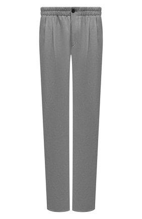 Мужские брюки из вискозы и льна GIORGIO ARMANI серого цвета, арт. 9SGPP05M/T00RJ | Фото 1 (Материал внешний: Вискоза, Лен; Длина (брюки, джинсы): Стандартные; Случай: Повседневный; Стили: Кэжуэл)