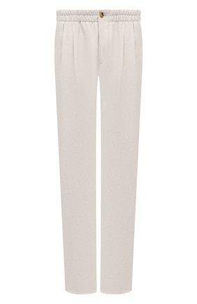 Мужские брюки из вискозы и льна GIORGIO ARMANI светло-бежевого цвета, арт. 9SGPP05M/T00RJ | Фото 1 (Материал внешний: Вискоза, Лен; Длина (брюки, джинсы): Стандартные; Случай: Повседневный; Стили: Кэжуэл)