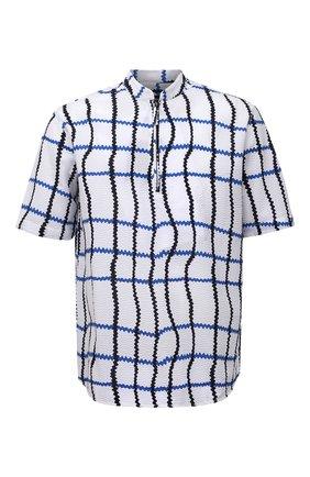 Мужская хлопковая рубашка GIORGIO ARMANI белого цвета, арт. 1SGCCZ51/TZ865 | Фото 1