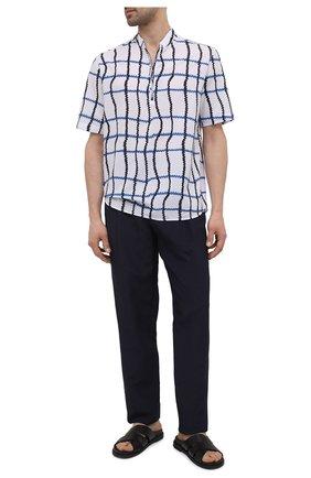 Мужская хлопковая рубашка GIORGIO ARMANI белого цвета, арт. 1SGCCZ51/TZ865 | Фото 2