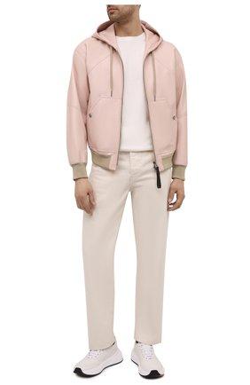 Мужской кожаный бомбер TOM FORD светло-розового цвета, арт. BW408/TFL867 | Фото 2