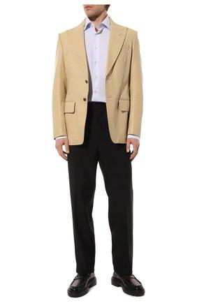 Мужской кожаный пиджак TOM FORD бежевого цвета, арт. BW408/TFL808 | Фото 2