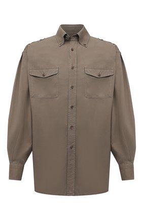 Мужская рубашка TOM FORD хаки цвета, арт. 9FT800/940MBE | Фото 1