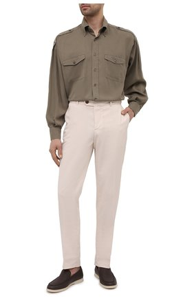Мужская рубашка TOM FORD хаки цвета, арт. 9FT800/940MBE | Фото 2