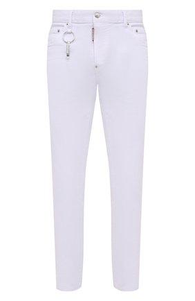 Мужские джинсы DSQUARED2 белого цвета, арт. S71LB0915/S39781 | Фото 1 (Материал внешний: Хлопок; Длина (брюки, джинсы): Стандартные; Кросс-КТ: Деним; Силуэт М (брюки): Прямые; Стили: Гранж)