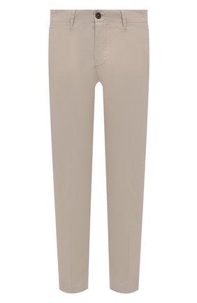 Мужские хлопковые брюки DSQUARED2 бежевого цвета, арт. S74KB0543/S41794 | Фото 1 (Длина (брюки, джинсы): Стандартные; Материал внешний: Хлопок; Случай: Повседневный; Силуэт М (брюки): Чиносы; Стили: Кэжуэл)