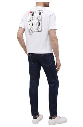 Мужская хлопковая футболка DSQUARED2 белого цвета, арт. S79GC0026/S23009 | Фото 2 (Материал внешний: Хлопок; Рукава: Короткие; Длина (для топов): Стандартные; Принт: С принтом; Стили: Гранж)