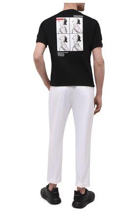 Мужская хлопковая футболка DSQUARED2 черного цвета, арт. S79GC0026/S23009 | Фото 2 (Длина (для топов): Стандартные; Материал внешний: Хлопок; Рукава: Короткие; Принт: С принтом; Стили: Гранж)