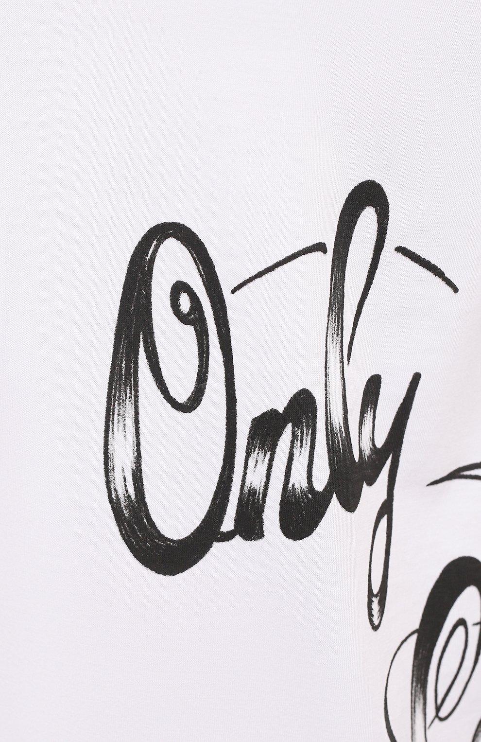 Мужская хлопковая футболка DSQUARED2 белого цвета, арт. S79GC0029/S23009 | Фото 5 (Рукава: Короткие; Длина (для топов): Стандартные; Стили: Гранж; Принт: С принтом; Материал внешний: Хлопок)
