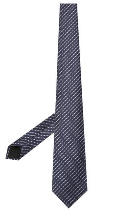 Мужской шелковый галстук LANVIN темно-синего цвета, арт. 2098/TIE   Фото 2