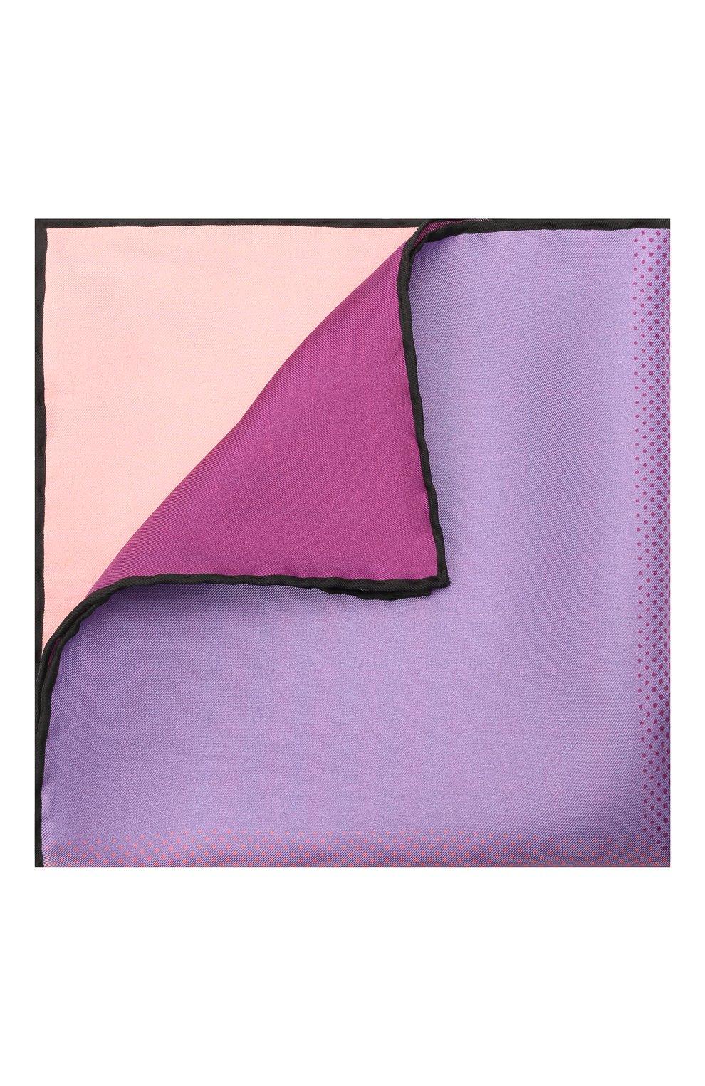 Мужской шелковый платок LANVIN сиреневого цвета, арт. 2809/HANDKERCHIEF | Фото 1