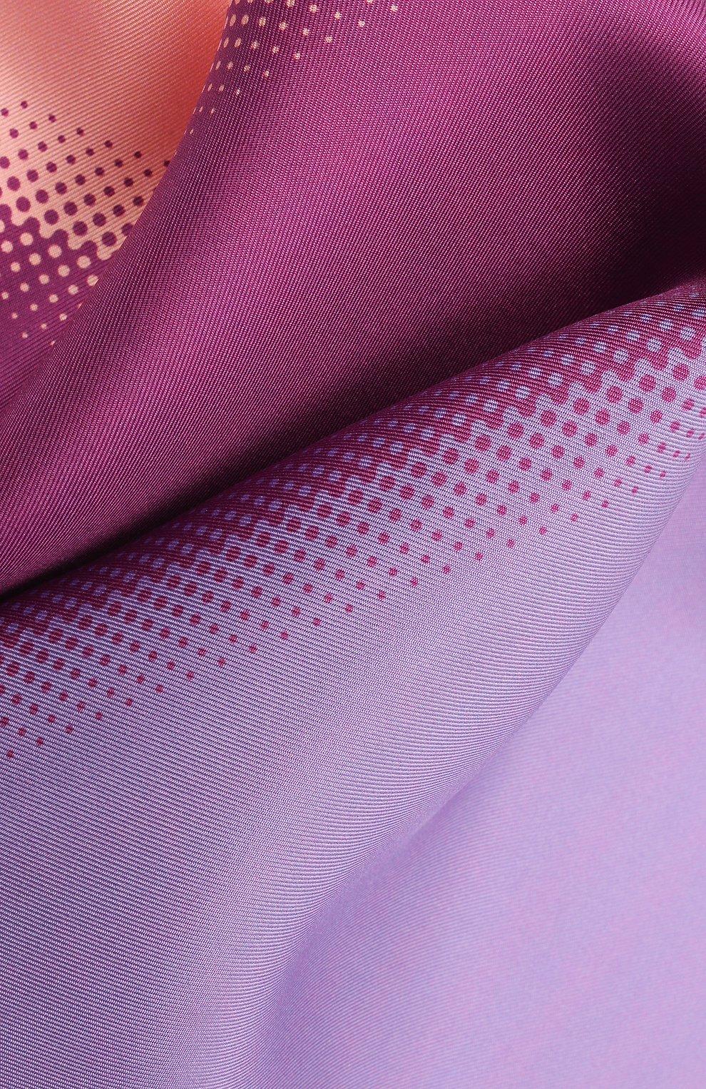 Мужской шелковый платок LANVIN сиреневого цвета, арт. 2809/HANDKERCHIEF | Фото 2