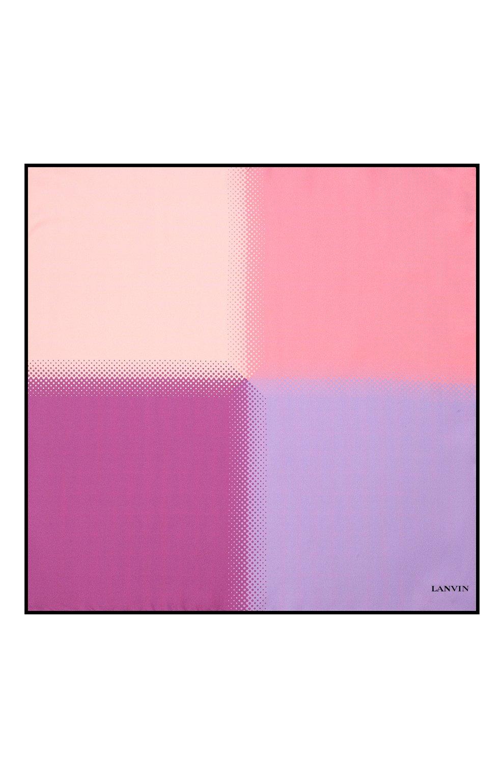 Мужской шелковый платок LANVIN сиреневого цвета, арт. 2809/HANDKERCHIEF | Фото 3