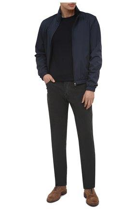 Мужские хлопковые брюки JAMES PERSE темно-серого цвета, арт. MRX1260 | Фото 2 (Материал внешний: Хлопок; Длина (брюки, джинсы): Стандартные; Случай: Повседневный; Стили: Кэжуэл)