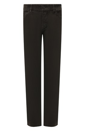 Мужские хлопковые брюки JAMES PERSE темно-зеленого цвета, арт. MRX1260 | Фото 1 (Материал внешний: Хлопок; Длина (брюки, джинсы): Стандартные; Случай: Повседневный; Стили: Кэжуэл)