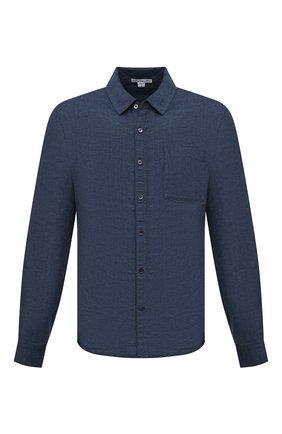 Мужская льняная рубашка JAMES PERSE синего цвета, арт. MJZ3376 | Фото 1