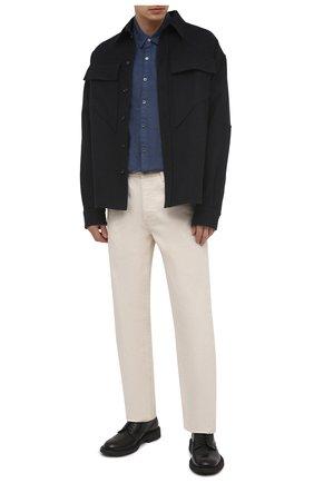 Мужская льняная рубашка JAMES PERSE синего цвета, арт. MJZ3376 | Фото 2