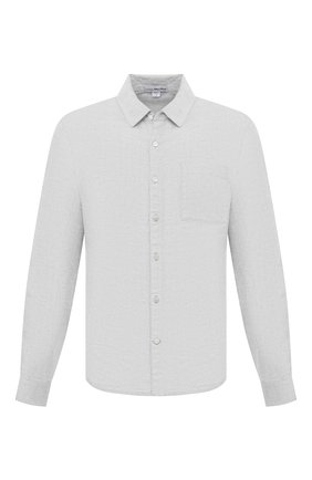 Мужская льняная рубашка JAMES PERSE светло-серого цвета, арт. MJZ3376 | Фото 1