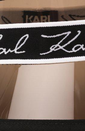Детская козырек KARL LAGERFELD KIDS черного цвета, арт. Z11032 | Фото 3