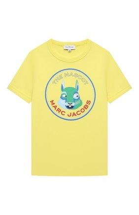 Детская хлопковая футболка MARC JACOBS (THE) желтого цвета, арт. W25464 | Фото 1