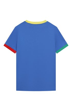 Детская хлопковая футболка MARC JACOBS (THE) синего цвета, арт. W25464   Фото 2