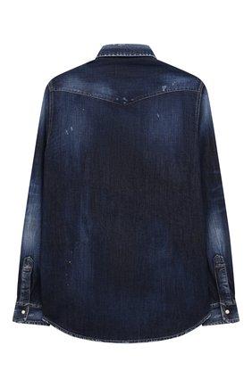 Детская джинсовая рубашка DSQUARED2 синего цвета, арт. DQ0260-D006H | Фото 2