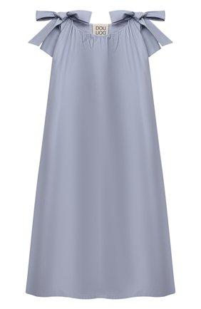 Детское хлопковое платье DOUUOD голубого цвета, арт. 21E/U/JR/AB60/0300/3A-8A | Фото 1