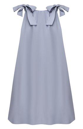 Детское хлопковое платье DOUUOD голубого цвета, арт. 21E/U/JR/AB60/0300/3A-8A | Фото 2