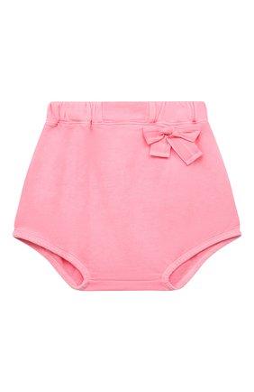 Детские хлопковые шорты DOUUOD розового цвета, арт. 21E/U/JR/FC23/2209/10A-14A | Фото 1