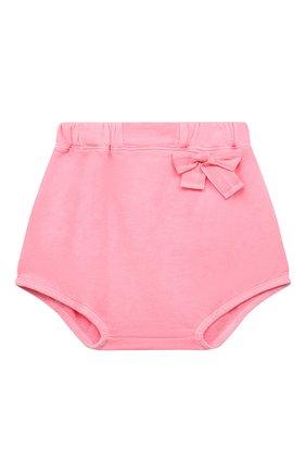 Детские хлопковые шорты DOUUOD розового цвета, арт. 21E/U/JR/FC23/2209/3A-8A | Фото 1