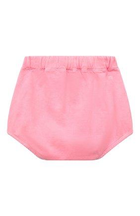 Детские хлопковые шорты DOUUOD розового цвета, арт. 21E/U/JR/FC23/2209/3A-8A | Фото 2