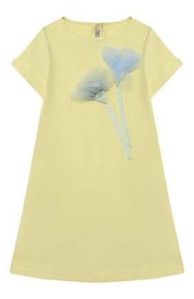 Женский хлопковое платье IL GUFO желтого цвета, арт. P21VM612M0014/5A-8A | Фото 1