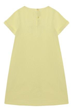 Женский хлопковое платье IL GUFO желтого цвета, арт. P21VM612M0014/5A-8A | Фото 2